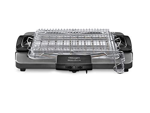 De'Longhi BQ80 Barbecue elettrico con griglia, 1000/1450/2450 W, Grigio