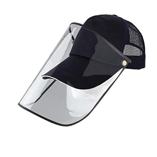 bobo4818 Kopfbedeckung Schutz Sonnenschirm Mütze Safety Schutzvisier Gesichtsschutz Visier Augenschutz Sonnenhut Anti Staub, Anti Fog, Anti-Beschlag, Anti-Speichel (A)