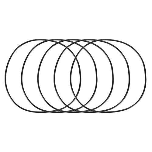 sourcing map 5 pcs Flexible en caoutchouc O Ring Rondelle d'étanchéité Joint Noir 125 mm x 2,4 mm