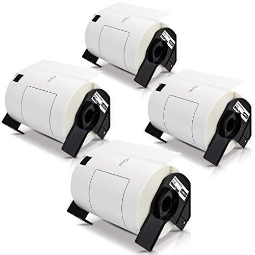 4x Labelwell 102mm x 152mm Kompatibel für Brother DK11241 DK-11241 Versand-Etiketten Schwarz auf Weiß für Brother P-Touch QL-1050 QL-1050N QL-1060 QL-1060N QL-1100 QL-1110NWB, 200 Etiketten