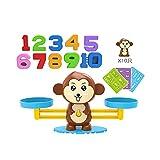 ZYYXB Juguetes para niños Montessori Matemáticas Juguetes Número Juegos Educativos Mono Equilibrio Juguete Inteligencia Infantil Juguetes de Enseñanza Conteo Juguetes, Equilibrio Mono-Marrón