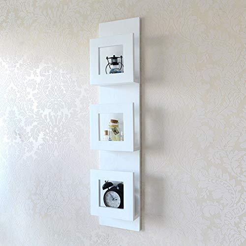 Bücherregale HUO Holz Wand Zeitungsständer Display Rack Zeitungsregal Lagerung Magazin Rack Wandbehang-110 * 105 cm (Farbe : Weiß)