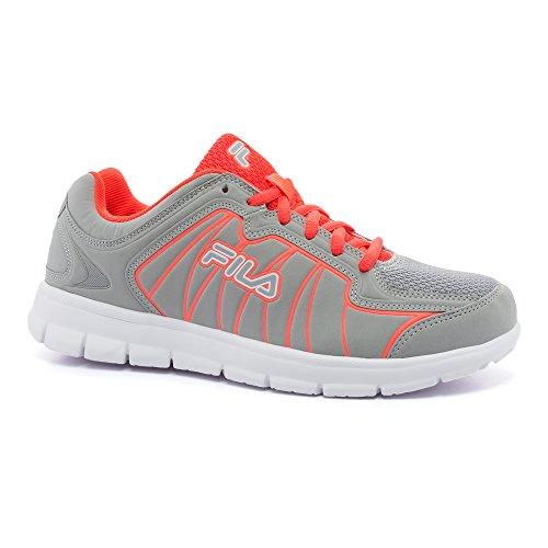 Fila Escalight Zapatillas de correr para mujer, Blanco (Highrise, Coral Ardiente, Blanco), 38.5 EU