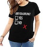 John J Littlejohn Are You Borracho Divertido Beber Mujer Camiseta Algodón Camiseta Tops Casual Ropa Calle Más Tamaño Camiseta