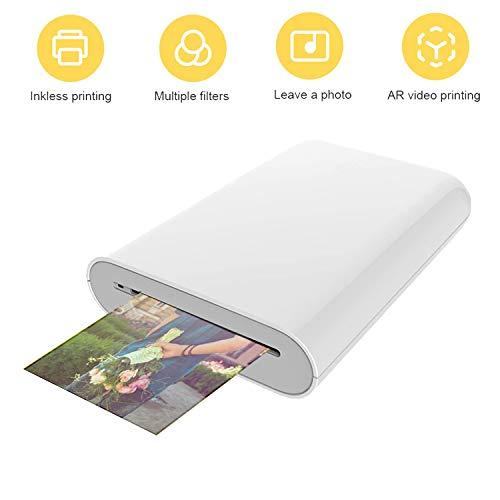 Bainuojia ZIP - Impresora de fotos para smartphone (iOS y Android), impresión inmediata, Bluetooth, sin tinta Zink Impresora.