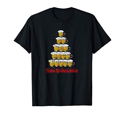 Herren Frohe Weihnachten 2020 Bier Weizen Weihnachtsbaum Design T-Shirt
