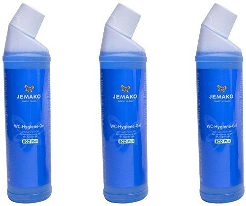 Jemako WC-Hygiene-Gel WC-Reiniger (WC-Hygiene-Gel, 750 ml/3er )