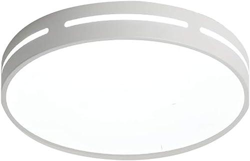 Plafonnier 18w LED, plafonnier rond moderne minimaliste, blanc chaud, lumière ronde, salon, chambre à coucher, salle à hommeger, bureau, plafonnier noir, plafonnier blanc,50cm 26W blanclumière