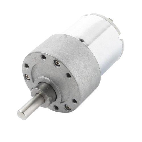 sourcingmap Réparation Pièces 6mm Diamètre Arbre DC 12V 500 TR/MIN électrique Motoréducteur 37GB