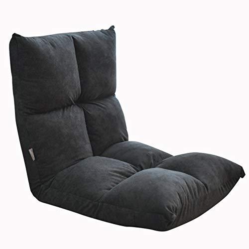 LJFYXZ Canapé Paresseux Chaise Réglage à 5 Vitesses Chaise Longue Confortable et Respirant Salon Chambre Facile à Ranger 2 Couleurs (Couleur : Gray Black)