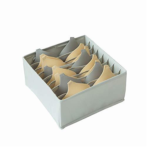 Organizer Opbergdoos Ondergoed Organizer, Ladeverdeler Inklapbare Closet Verdelers En Opvouwbaar Storage Box For Ondergoed, Bras Ondergoed Sokken (Color : Gray, Size : 34 * 32 * 15)