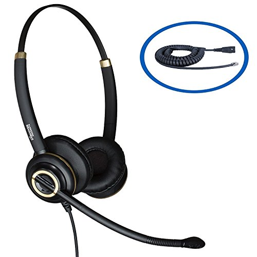 Discover D712 Dual Speaker Wired Headset for Polycom Desk Phones