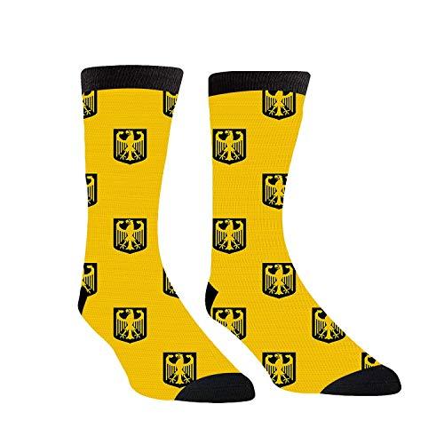 Funny Coat Arms - Calcetines de invierno con estampado de Alemania, color amarillo