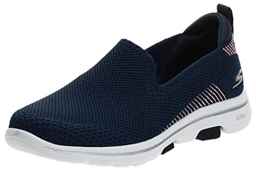 Skechers Damen GO Walk 5-PRIZED Turnschuh, Navy, 43 EU