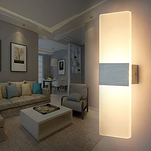 lampada parete bagno LED Lampada da Parete Interno 12W Bianco Caldo