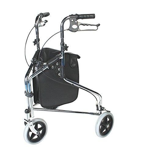 Patterson Medical - Andador tres ruedas frenos bloqueables
