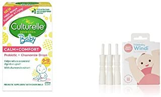 Culturelle Baby Calm + Comfort Probiotics Drops .29 fl. Oz and Windi the Gaspasser by Fridababy the all-natural solution for Baby Colic and Gas Relief