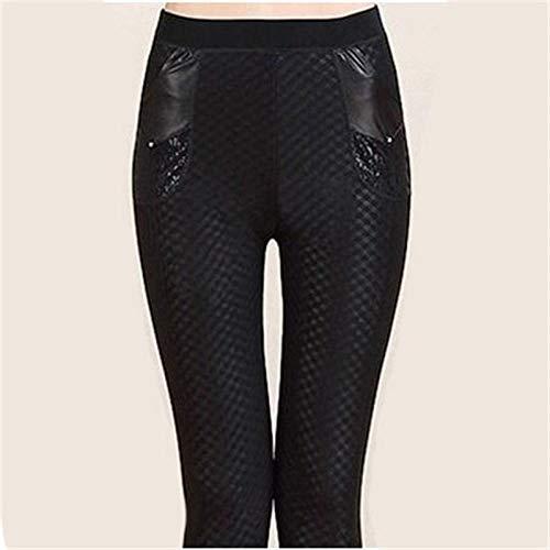 Pantalon Leggings Mujer Otoño Invierno Mujer Cálido Plus Pantalones Gruesos Mujer Delgado Cintura Alta Estiramiento Lápiz Leggings Señora Pantalones-Hei_GE_L