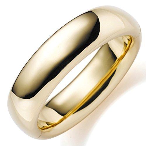 19,5mm Armreif Armband Armschmuck aus 750 Gold Gelbgold glatt glänzend