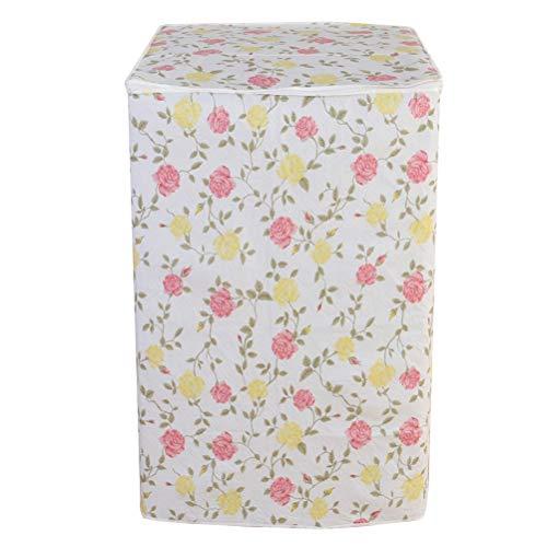 LIOOBO Funda para Lavadora Carga Superior Refrigerador Universal Cubierta Superior del Secador y Lavadora Automática Impermeable a Prueba de Polvo con Cremallera 54x54x82 cm (patrón Amarillo Rojo)