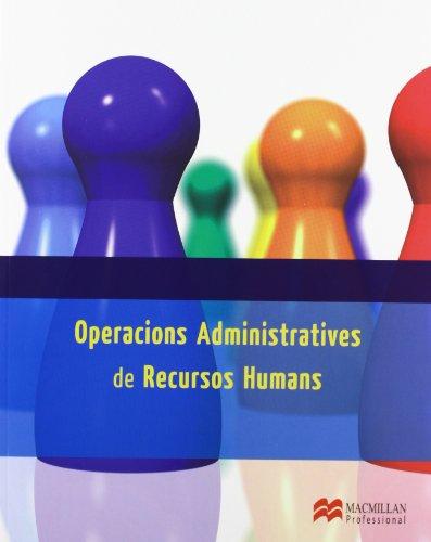 Operac Admin Recursos Human Cat 2013 (Gestión Administrativa)