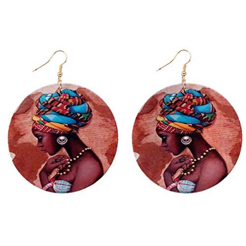 Aijian African Pretty Earrings/African American Woman Earring/African Wood Jewelry