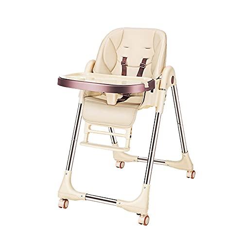 Silla alta plegable 6 en 1, sillas de alimentación multifuncionales para niños,...