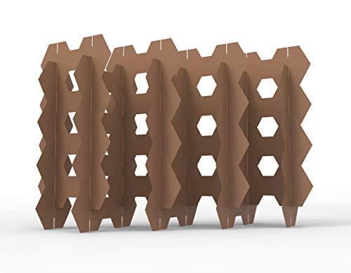 Biombo Modular de cartón. Módulos hexagonales. Ideal para separación de Espacios. (Chico)