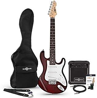 Set de Guitarra Electrica LA 3/4 + Amplificador de 10 W Wine Red