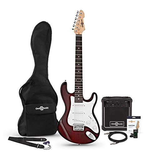 Set de Guitarra Electrica LA 3/4 + Amplificador de 10 W Wine Red