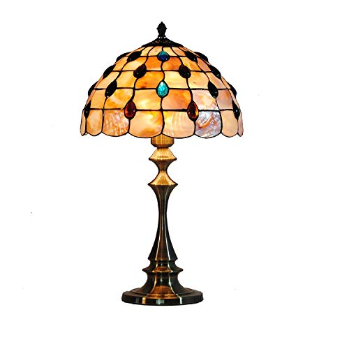 Lampe De Table Phoenix De Queue De 12 Pouces Lampe De Style Tiffany Shell Lampe Lampe De Table Shell Européenne Lampe De Chambre Lampe De Chevet