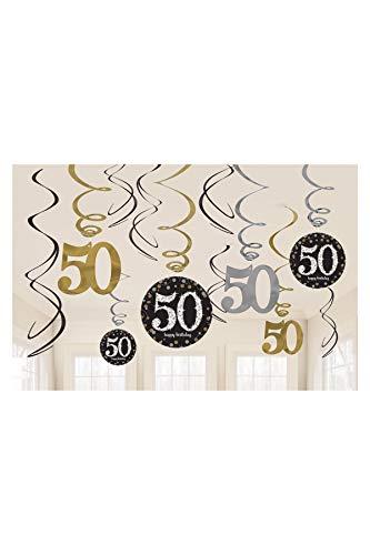 amscan 670479Girlanden-Dekoration zum 50. Jahrestag, Vorteilspack