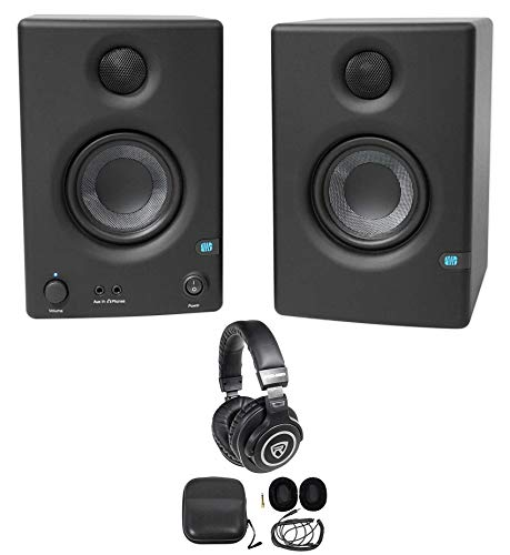 Buy Discount Pair Presonus Eris E3.5 3.5 Powered Studio Monitor Speakers+Studio Headphones