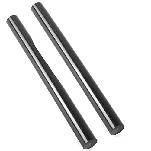 (2 Pack) Round Acetal Copolymer Rods - Standard Tolerance 1 ½ -Inch Diameter and 12-Inch Length Opaque Black Acetal Copolymer Rods Meets ASTM D6778 Specifications Perfect for Non-Marring Fixtures