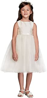 da01dfeb4d6 Flower Girl Communion Dress with Tulle and Ribbon Waist Style OP218