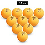 Lixada Pelotas de Ping Pong 3 Estrellas 10 Pcs 40 + MM ABS Sin Costura Pelota de Tenis de Mesa de Entrenamiento