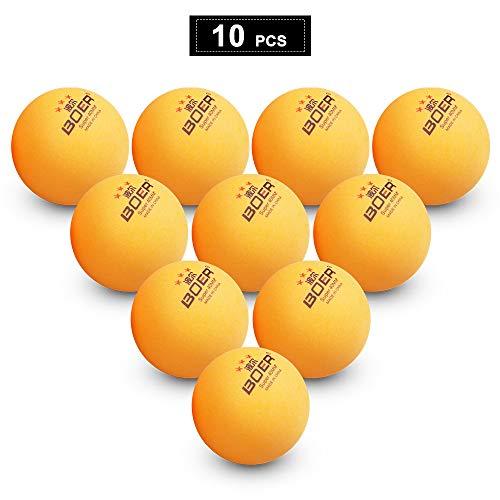Lixada Pelotas Ping Pong 3 Estrellas 10 Pcs 40 + MM