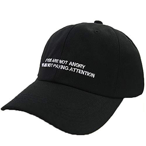 Fuudear Sommerhüte Western Logo Baseballmützen Männer Und Frauen Casual Entenkappen Liebhaber Ausflüge Street Caps Hip-Hop Champion Hüte (Farbe: Schwarz)