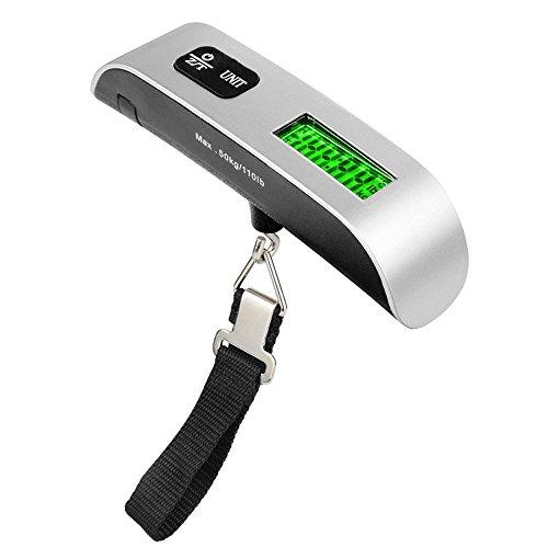 YA-Uzeun Pèse-bagage électronique portable LCD 50 kg/10 g