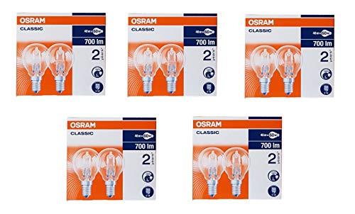 10 Stück E14 OSRAM Halogen Glühlampe dimmbar 46 Watt - Ersatz für 60 Watt G45