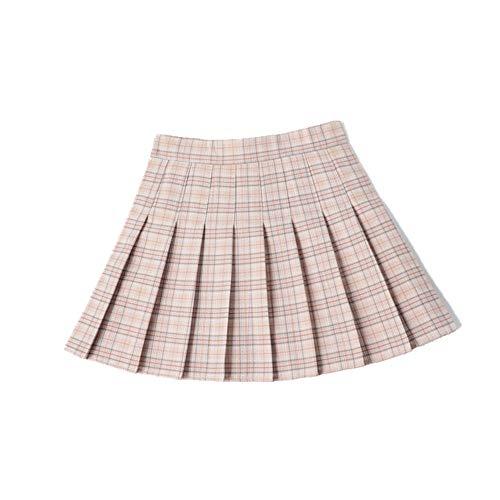 N\P Falda Plisada de Verano de las Señoras de la Falda Corta de Cuadros Plisados de la Mujer