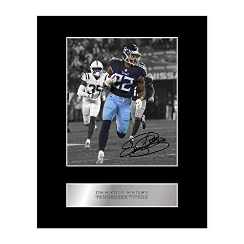 Derrick Henry Signed Mounted Photo Display Tennessee Titans #03 NFL Printed Autograph Gift Picture Print