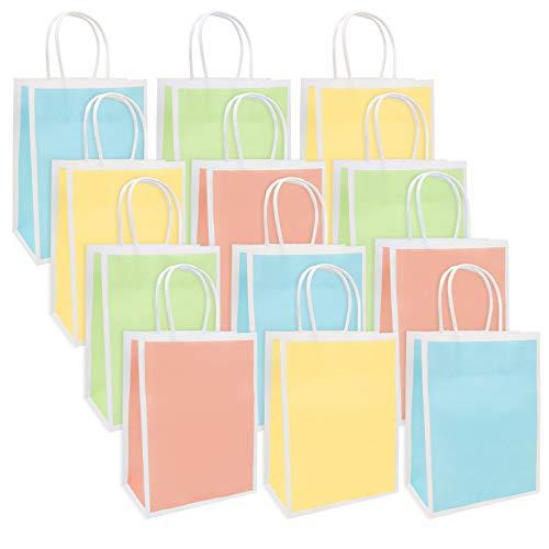 Bolsas de Papel, Bolsas de Papel para Dulces con Asas Crea un Estilo Personalizado para la Fiesta de Cumpleaños de los Niños (20 piezas)