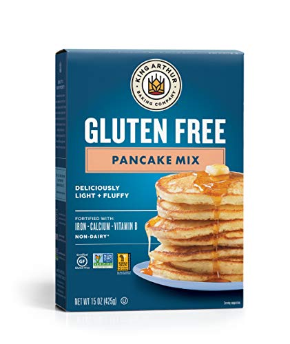 King Arthur, Gluten Free Pancake Mix, Certified Gluten-Free, Non-GMO Project Verified, Certified Kosher, 15 Ounces (Packaging May Vary)