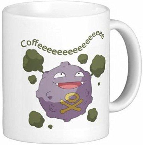 N\A Taza de café de cerámica de Koffing Coffeeeee