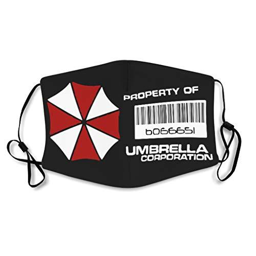 Eigentum der Umbrella Corporation Gesichtsbehandlung wiederverwendbar Mundschutz für Laufen Biogefährdung Design white onesize