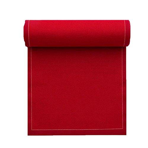 Serviette de table en coton 32x32cm - Rouleau de 12 serviettes - Rouge Carmin