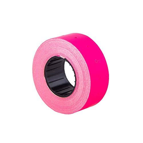 (10 rollos) rosa 21 x 12 mm Papel de color Etiqueta adhesiva Precio Pistola Etiquetas de marcador de precios MX-5500