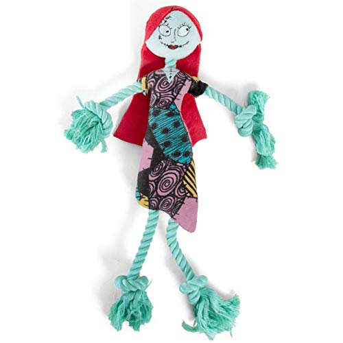 Disney Nightmare Before Christmas Sally Rope Plush Chew Toy with Squeaker, Multi, Model Number: DIS-Toy-NBC-SLL
