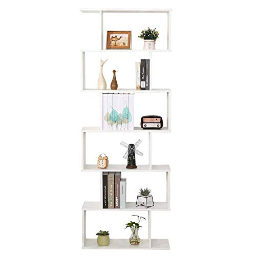 Libreria Scaffale Bianca Ufficio Moderna Contemporanea Bifacciale Divisorio Legno Casa Giorno 70x23.5x190 Autoportante Mensole Scaffali Cubi Muro Design Ingresso Soggiorno
